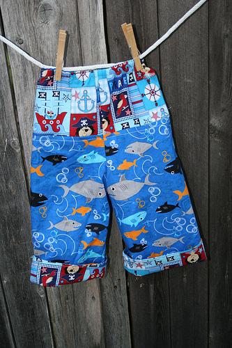 Shark Pants Back