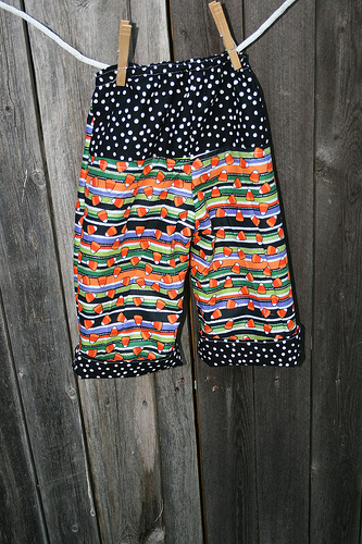 Candy Corn Pants Back