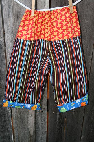 Stripe Pants Back