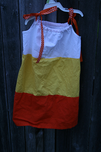 Toddler Candy Corn dress