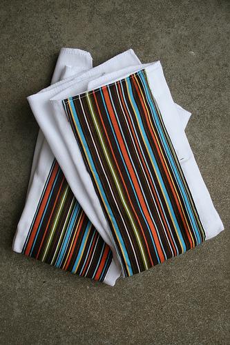Stripey burpcloths