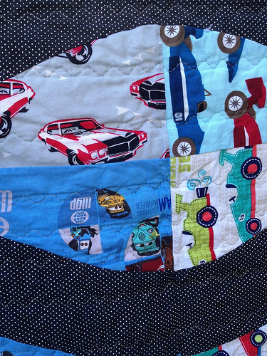 close up car quilt