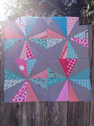 February BOM - Wonky Pinwheel