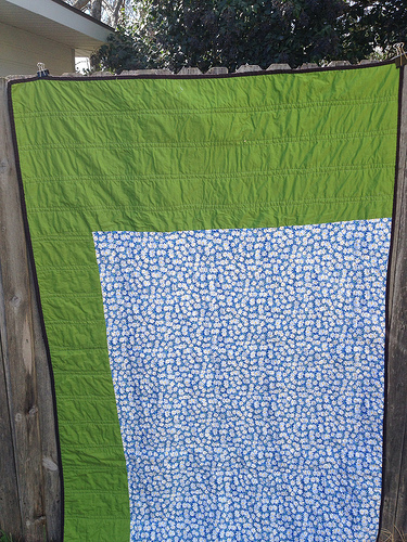 Back of Shoo Fly quilt