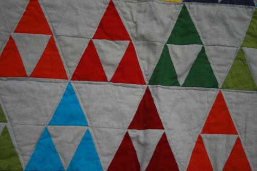 close up of triangles