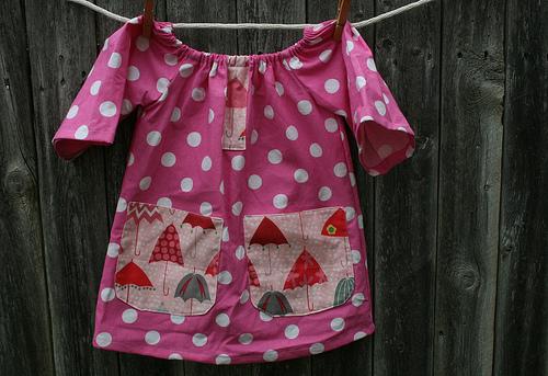 Poppy Bow Dress Pink