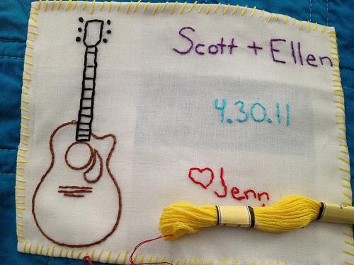 Label for Scott's quilt