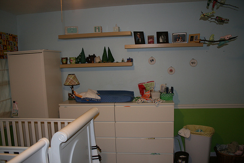 Changing Table and Shelves