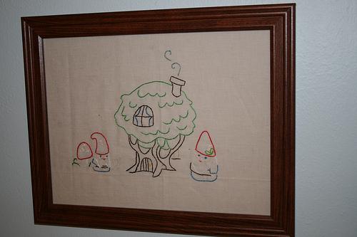 Gnome Home Embroidery