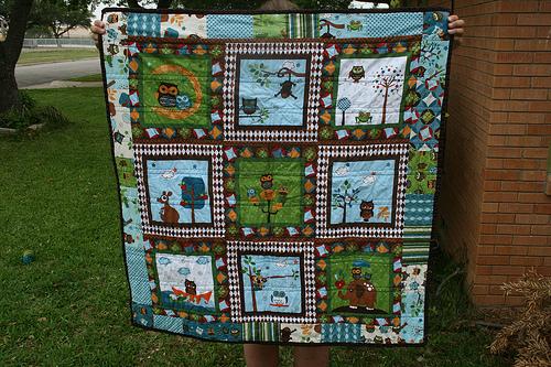 Back of Hooty Hoot quilt