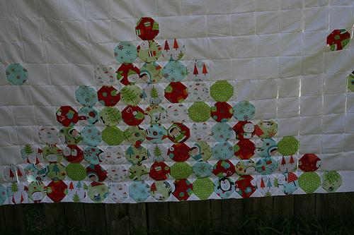 Snowball quilt pile